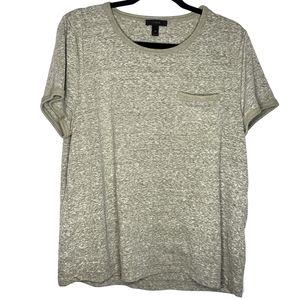 J crew Green slub cotton ringer t shirt